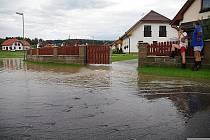Velkou vodu zažili také lidé z Velké Losenice.