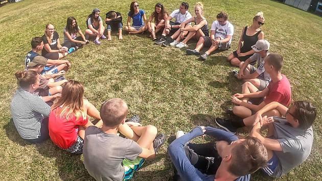 Děti se na táboře učí poznávání sebe sama