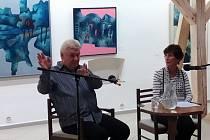Beseda s představitelem filmového malého Bobše Jiřím Lukešem se konala v Horácké galerii.