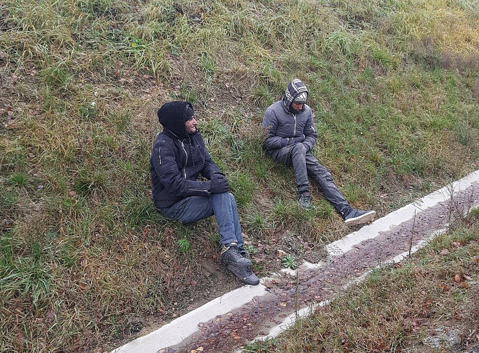 Policisté na Vysočině zadrželi na dálnici D1 další dva migranty.