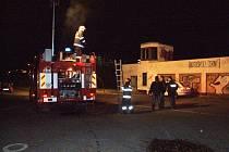 Zásah hasičů u žďárského autocvičiště.