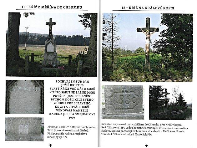 Publikace Putování za kříži Měřín a okolí mapuje sakrální památky v měřínské farnosti. Foto: Archiv Měřína