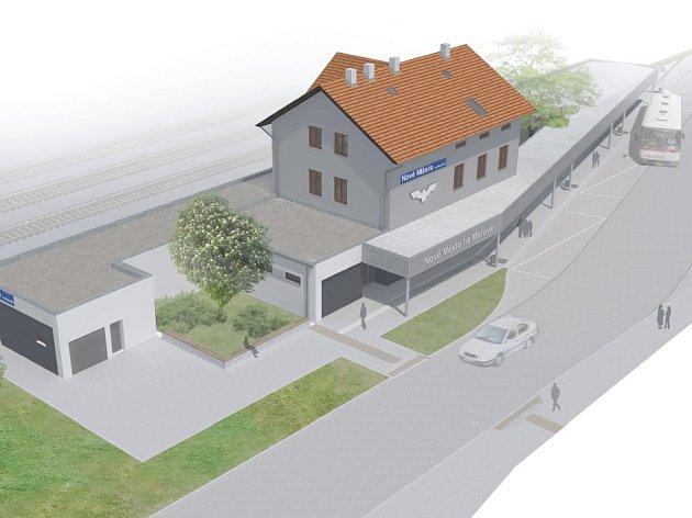 Hned vedle sebe budou mít Novoměstští autobusový terminál a vlakové nádraží. Zjednoduší to přestupy z jednoho dopravního prostředku do druhého.