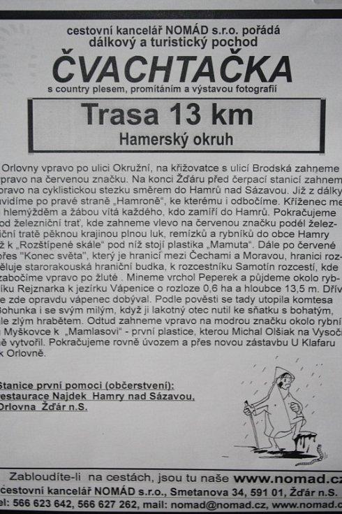 Třináctikilometrová trasa - Hamerský okruh