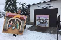 Ve Třech Studních bude opět vystaven obří Betlém malíře Ivana Svatoše.