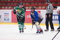 Hokejisté Vatína (v modrošedém) i Bohdalce (v zeleném) jsou v semifinále Vesnické hokejové ligy.