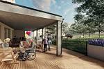 Přestavba staré školy na Domov důchodců.