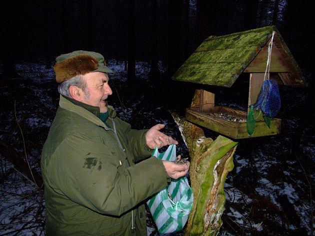 Vánoční nadílku dostává také lesní zvěř.