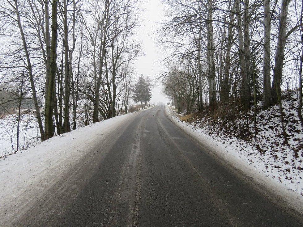 Jednadvacetiletá řidička zahynula v sobotu 9. ledna při dopravní nehodě na silnici mezi obcemi Zvole a Bobrová.