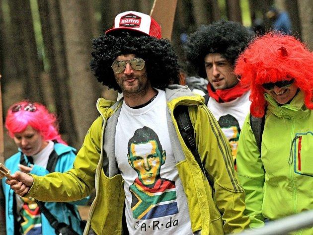 Fanoušci při světovém poháru horských kol v Novém Městě