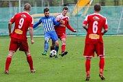 13. kolo MSFL mezi FC Velké Meziříčí a 1. SK Prostějov.