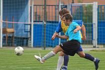 Velkobítešský ofenzivní záložník Ondřej Loup byl jedním z hrdinů utkání v Okříškách. V předposlední minutě zápasu dal vítězný gól svého týmu.