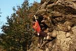 Jedním z horolezci oblíbených míst je i Vávrova skalka.