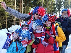 Biatlonoví fanoušci v Novém Městě na Moravě.