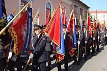 První setkání hasičských praporů okresu Žďár nad Sázavou