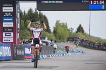 Mathieu van der Poel - Vítěz závodu SP v cross country horských kol v Novém Městě na Moravě v kategorii mužů Elite.