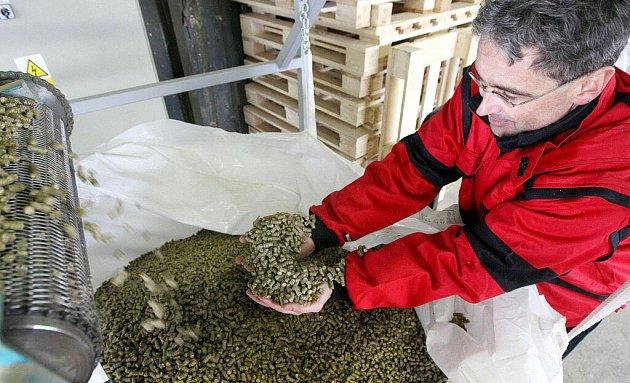 U linky na výrobu agropelet z biomasy...