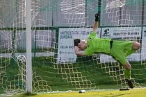 Fotbalové utkání krajského přeboru mezi TJ Nová Ves u Nového Města na Moravě a FK Kovofiniš Ledeč nad Sázavou.