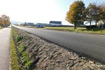 Silnice I/19 v Hamrech nad Sázavou.
