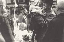 Prezident Československa Masaryk při návštěvě Města Žďáru v roce 1928.