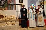V kostele svatého Jana Nepomuckého na Zelené hoře bylo požehnáno novému městskému betlému.