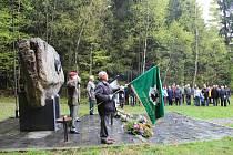 U partyzánského památníku v Cikháji si připomněli 70. výročí osvobození obce a konce druhé světové války.
