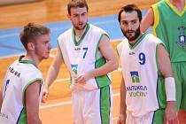 Z utkání basketbalistů Žďáru proti Ostravě.