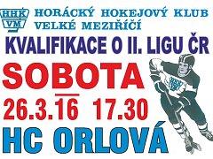 Plakát na boje o druhou ligu mužů se musel měnit. Velké Meziříčí zahájí kvalifikaci v sobotu doma.