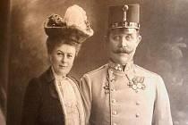 Arcivévoda František Ferdinand d´Este a vévodkyně Žofie z Hohenbergu (rozená hraběnka Chotková) r.1913