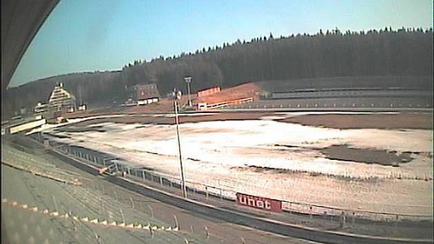 Pohled na sportovní areál z webkamery 23. března 2011