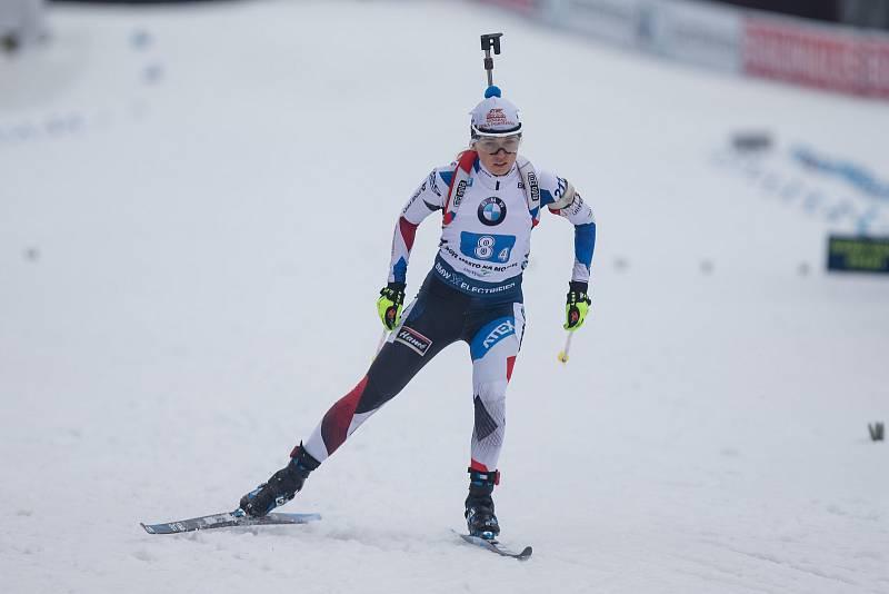 Závod SP v biatlonu (štafeta ženy 4 x 6 km) v Novém Městě na Moravě. Na snímku: Eva Kristejn Puskarčiková.