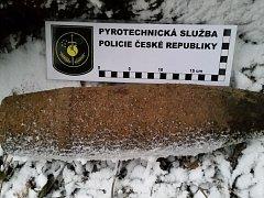 Nalezený granát musel být odpálen přímo na místě.