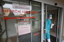 Onemocnění COVID-19 bylo potvrzeno u zdravotníka z novoměstské nemocnice. Pracoval na jednom ze tří tamních interních oddělení. Ilustrační foto.