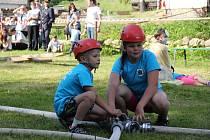 O doprovodný program se v den oslav postarali i nejmladší hasiči z Kuklíku.
