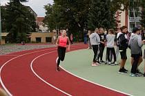 Zrekonstruované hřiště u Základní školy Švermova.