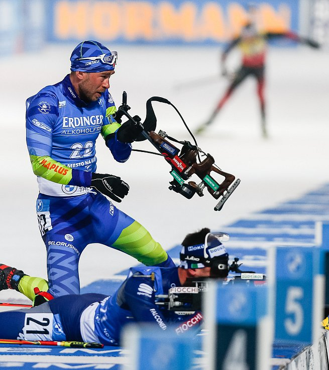Závod Světového poháru v biatlonu v závodu sprintu mužů na 10 km.