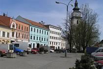 Pohled na centrum Velkého Meziříčí.