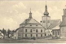 Náměstí v Křižanově 1926.