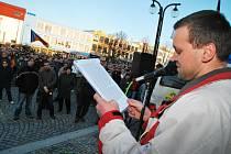 Dějištěm protestu, takzvané Holešovské výzvy, se ve čtvrtek odpoledne stal Žďár nad Sázavou.