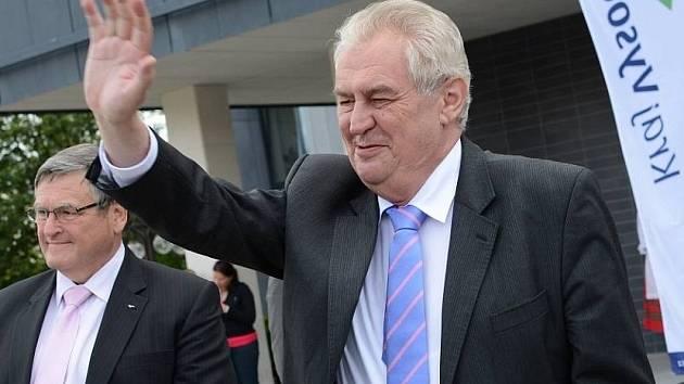 Prezident Miloš Zeman navštívil Žďár nad Sázavou