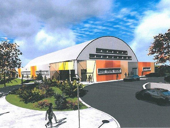 Nový zimní stadion, který je dokončován v Bystřici nad Pernštejnem, začne fungovat 18. prosince.