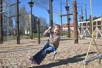 Lanový park Siesta v Bystřici nad Pernštejnem.