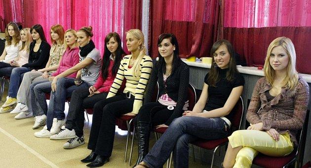 Soustředění finalistek Miss Vysočiny 2009.