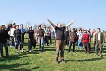 První zkouška žďárské pašijové hry se konala za krásného jarního počasí.
