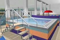Takto je naplánovaná vířivka pro žďárské relaxační centrum.