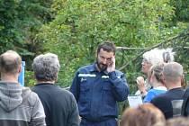 Z natáčení Lovce vodního ticha. Na snímcích je herec Ondřej Vetchý.
