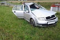 Čtyři lidé se zranili v sobotu v poledne při nehodě osobního automobilu Škoda Fabia u Bohdalova.