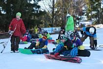 Snowboardisté na Novoměstsku