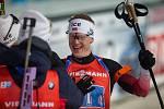 Závod SP v biatlonu (štafeta mužů 4 x 7,5 km) v Novém Městě na Moravě. Na snímku: Johannes Thingnes Boe.