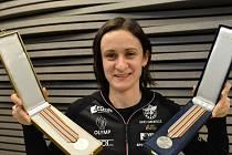 Rychlobruslařka Martina Sáblíková se 13. února po návratu z mistrovství světa setkala s novináři v Praze.
